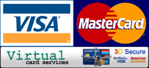 We accept Visa and MasterCard payments